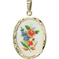 View details - Floral Motif Larger Medal