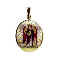Archangel Uriel / Archangel Michael Double Side Painted Medallion