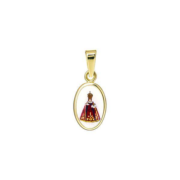 011H purple Infant Jesus of Prague miniature medal