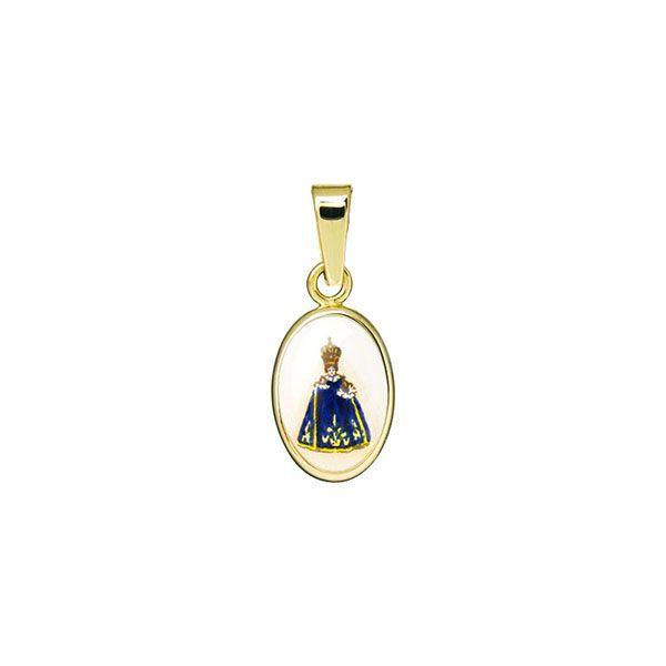 011H blue Infant Jesus of Prague miniature medal