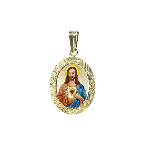 199R Sacred Heart of Jesus Medal blue