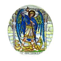 Semiproduct 304-305 Archangel Uriel / Archangel Michael Double Side Painted
