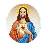 Semiproduct 399 Sacred Heart of Jesus blue