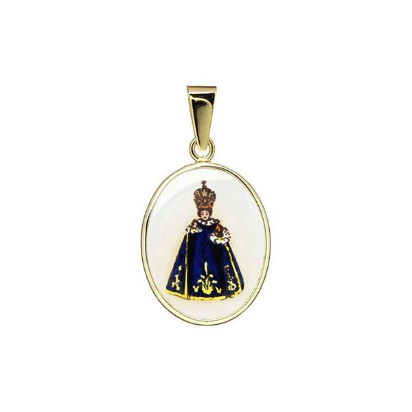 185H blue Holy Child of Prague Medal