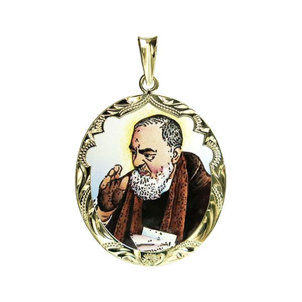 342R Padre Pio Medallion