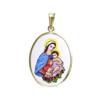 Saint Madonna with Child Larger Medal