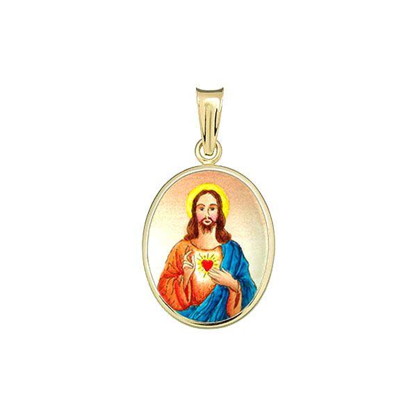 199H Sacred Heart of Jesus Medal blue