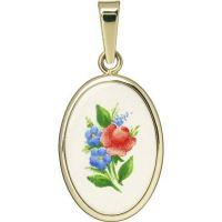 Květinový motiv medailonek