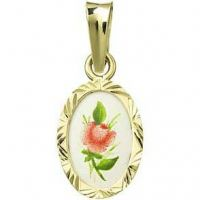 Red Rose Miniature Medallion
