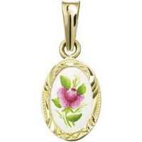 Purple Rose Miniature Medallion