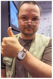 Radek Aljancic with his first enamel dial watch